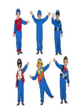 disfraz multiple azul 6 en 1 para niños