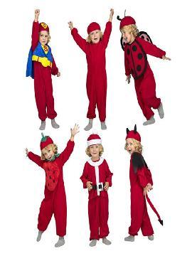 disfraz multiple rojo 6 en 1 para niños