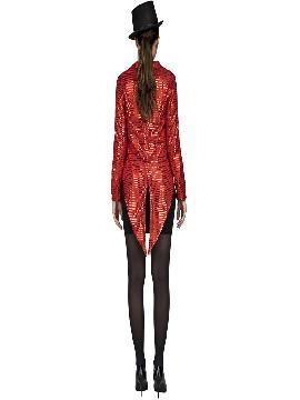 disfraz de chaque con pajarita rojo mujer