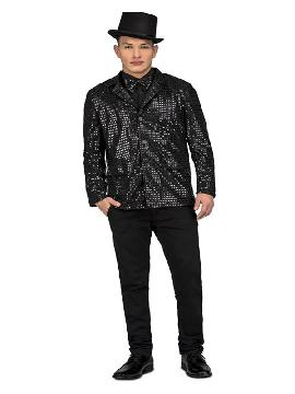disfraz o chaqueta con pajarita negra para hombre