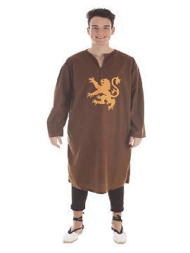 disfraz o tunica marron con escudo para hombre