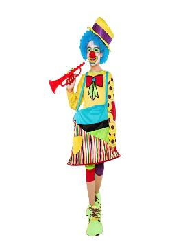 disfraz payasa del sol para niña infantil. Este comodísimo traje es perfecto para carnavales, espectáculos, cumpleaños.Este disfraz es ideal para tus fiestas temáticas de disfraces de payasos del circo,bufones y arlequines para niñas.