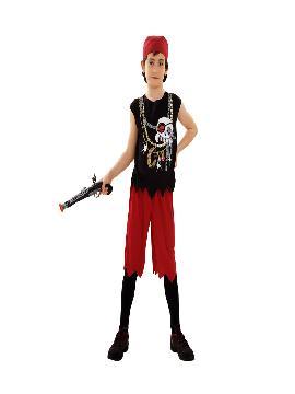 disfraz pirata calavera niño