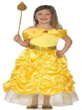 disfraz princesa dorada niña