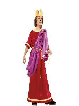 Disfraz rey herodes para niño. Este traje es ideal para representaciones para navidad y cabalgatas de reyes.