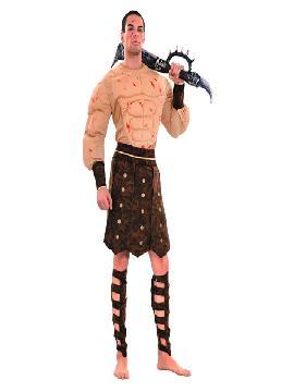 Disfraz de romano sangriento musculoso hombre. Lo pasarán de muerte asustando a los pequeños en la noche de Terror y halloween. Este disfraz es ideal para tus fiestas temáticas de miedo y romanos para adulto