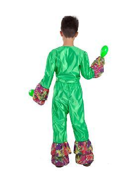 disfraz de rumbero verde para niño