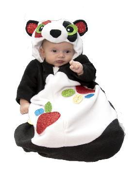 disfraz saquito oso panda bebe