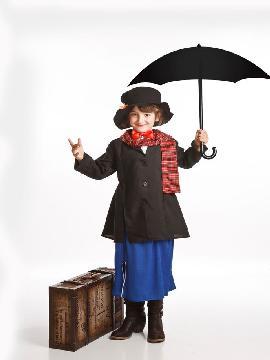 disfraz señorita poppins para niña