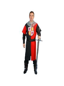 disfraz tabardo tunica medieval heraldia hombre adulto. Te convertirás en una auténtico hombre de la época medieval cuando lleves este tunica de tabardo medieval para hombre, representaciones teatrales, bodas medievales y mercados. Este disfraz es ideal para tus fiestas temáticas de disfraces epoca y medievales para la edad media.