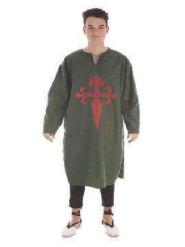 disfraz tunica verde con escudo para hombre