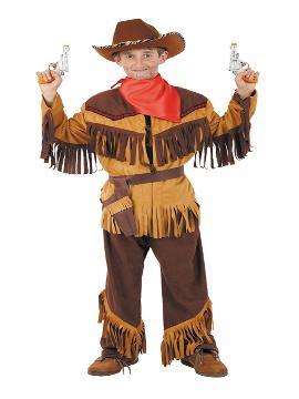 Disfraz de vaquero Búfalo Bill para niño. Elige y compra tu traje barato entre los que te ofrecemos en este catálogo. Este disfraz es ideal para tus fiestas temáticas de indios y vaqueros para infantil. fabricacion nacional
