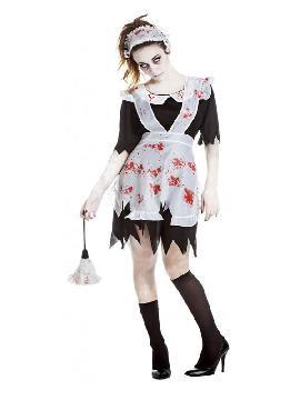 disfraz de sirvienta zombie mujer