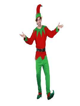 disfraz de elfo verde adulto para hombre. Sorprende a tus amigos y familiares disfrazándote con el traje de elfo adulto,es el ayudante de Santa Claus, y repartiendo regalos a los más pequeños con este aspecto tan entrañable.Este disfraz es ideal para tus fiestas temáticas de disfraces cuentos populares,famosos y musicos para hombre adultos.