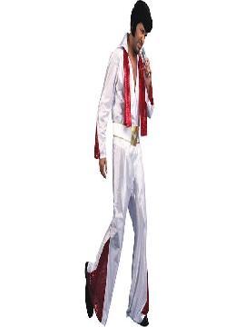 disfraz de elvis rey del rock adulto para hombre. Este tipo Viva Las Vegas es ideal para tus fiestas de disfraces o carnaval y tus mejor despedidas.Este disfraz es ideal para tus fiestas temáticas de disfraces cuentos populares,famosos y musicos para hombre adultos.