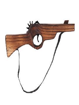 Escopeta pirata de madera 38 cm. Comprar vuestras armas originales para grupos, este complemento es para fiestas de piratas, bucaneros o para vuestros disfraces.