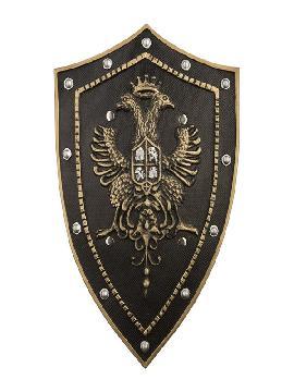 escudo foam medieval aguila negro de 51 cm