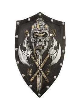 escudo foam medieval con calavera de 48 cm