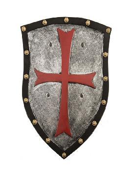 escudo foam medieval con cruz de 51 cm