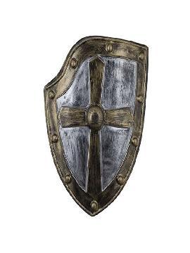 escudo medieval cruz bronce 62x48 cm