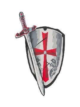 escudo y espada de caballero goma eva