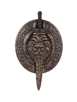 escudo y espada de gladiador