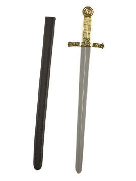 espada de caballero plateada infantil de 63 cm
