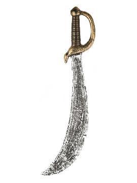espada de pirata con hoja doblada de 61 cm
