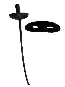 espada florete antifaz de zorro 65 cm