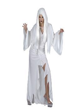 disfraz de espiritu blanco para mujer adulto