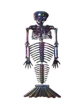 esqueleto de sirena cromado 37 cm