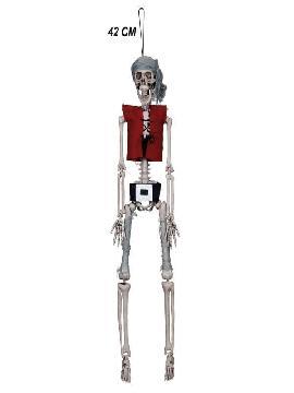 esqueleto pirata para colgar 42 cm