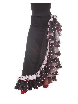 falda de sevillana negra con topos mujer