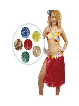 falda hawaiana colores surtidos 55cms