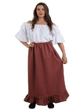 falda medieval granate para mujer talla 48