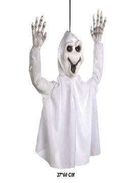 fantasma colgante blanco halloween 37x60cm