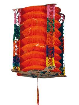 12 farolillos japones color naranja 21 cm