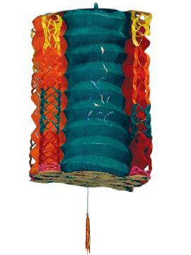12 farolillos japones color azul 21 cm