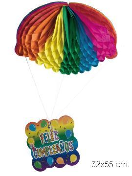 12 farolillos paracaidas trenecito 32x55 cm