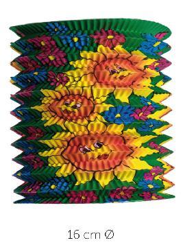 12 farolillos con soles colores 16 cm