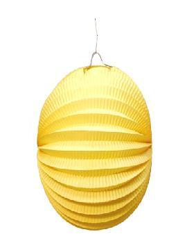 farolillo amarillo esferico 26 cm