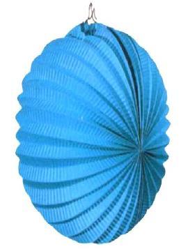 farolillo esférico azul de 26 cm,decoraciones para fiestas de cumpleaños