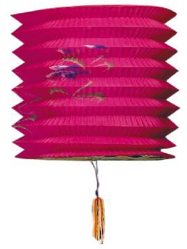 12 farolillos japones color rosa 16 cm