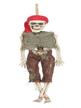 figura colgante de esqueleto pirata