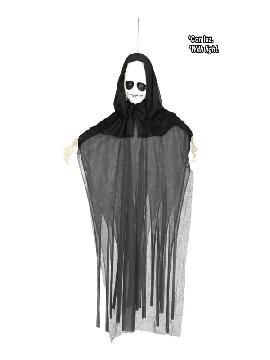 figura colgante fantasmal con luz