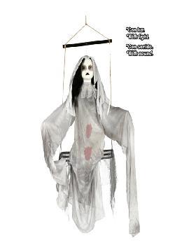 figura colgante muñeca fantasmal con luz y sonido