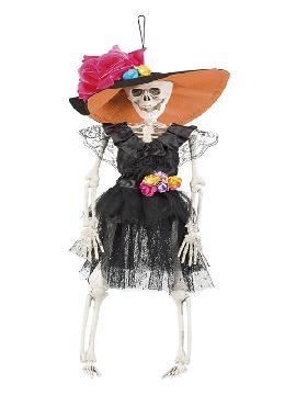 figura esqueleto colgante la flaca