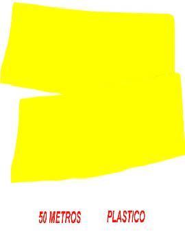 fleco de plastico amarillo para fiestas de 50 m