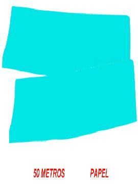 fleco de papel azul para fiestas de 50 m