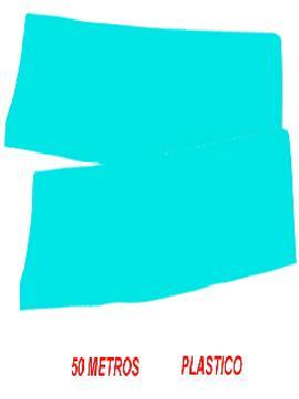 fleco de plastico azul para fiestas de 50 m